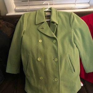 Pea Coat lime green.